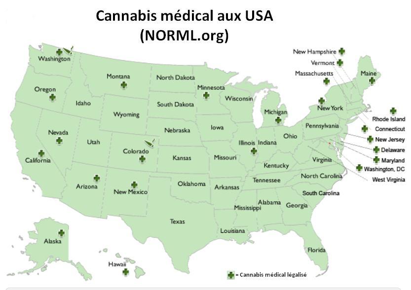 Medical Marijuana News February  Alchimia Blog - Us marijuana map 2015