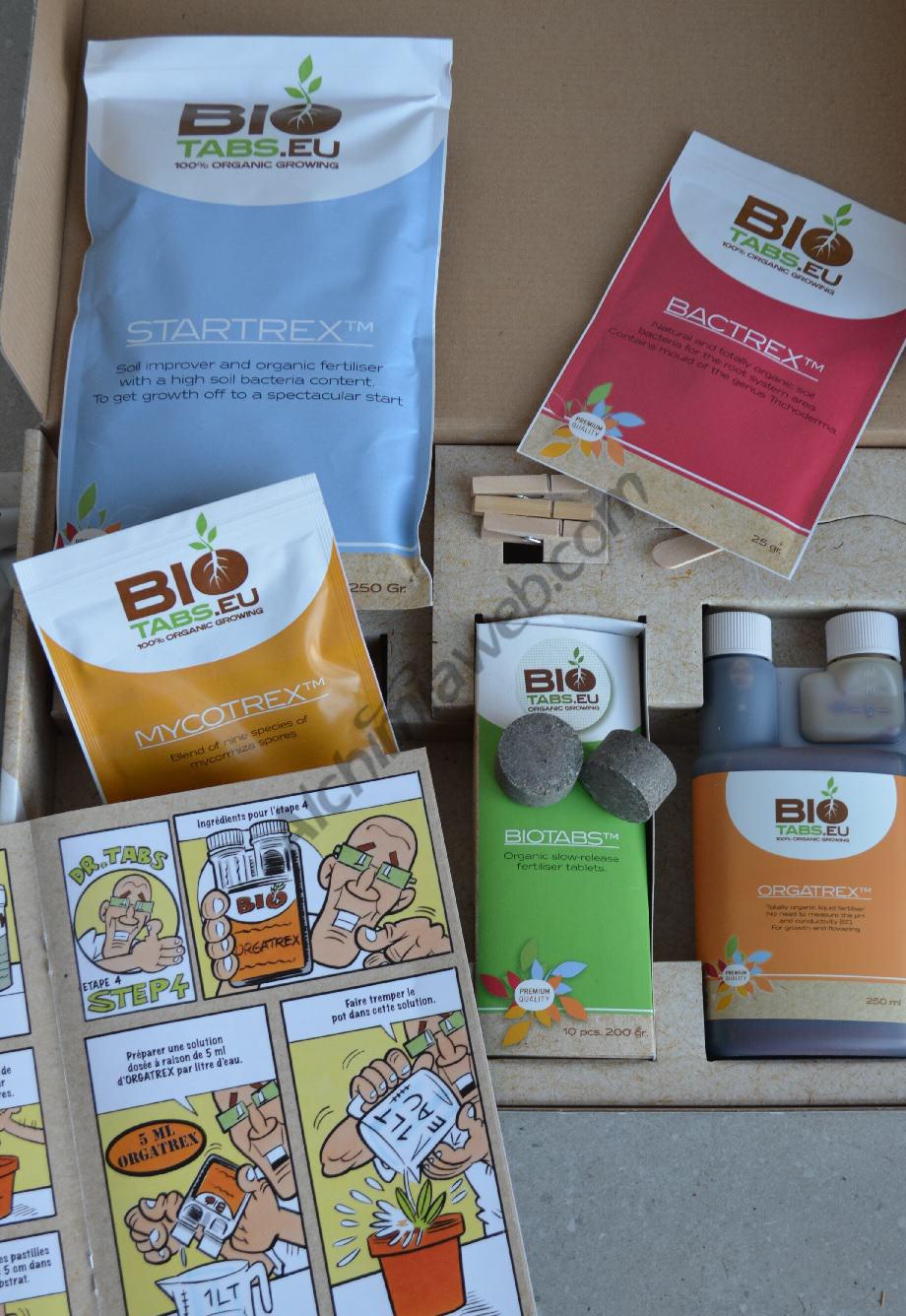 Organic Nutrient Starter Kit BioTabs, for growing marijuana in coco  or soil