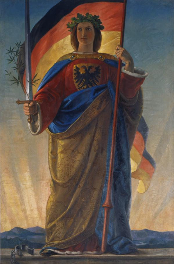 Germania by Phillip Veit in 1848 – The branch of marijuana represents Peace