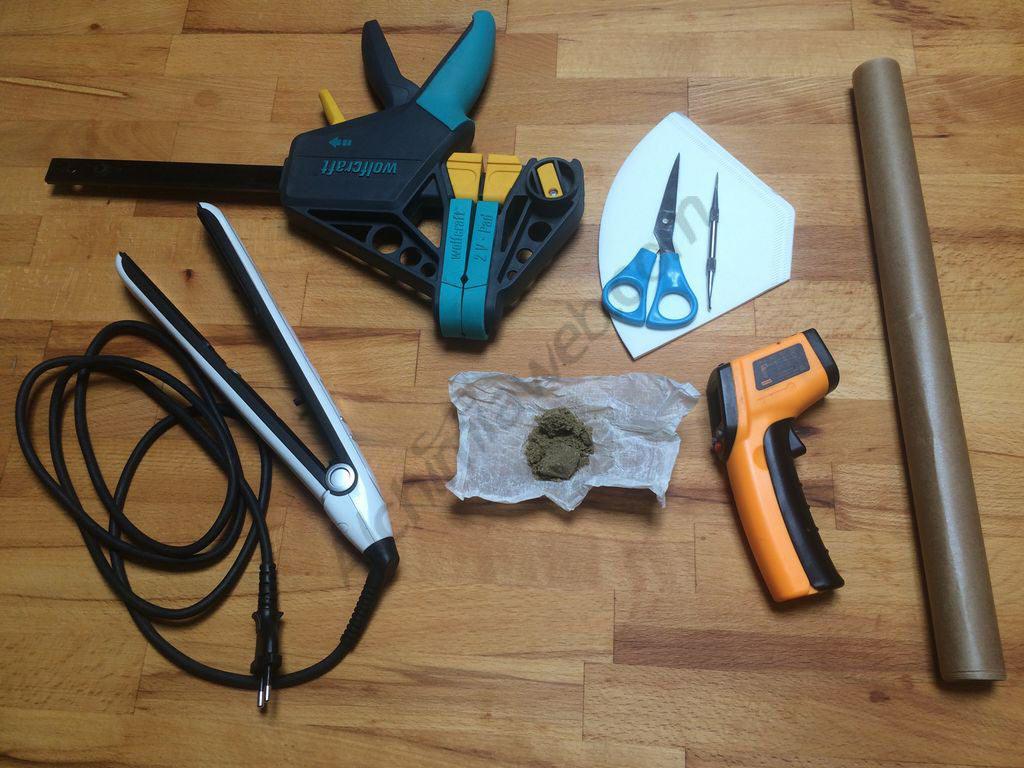 Equipment needed to make Rosin hash