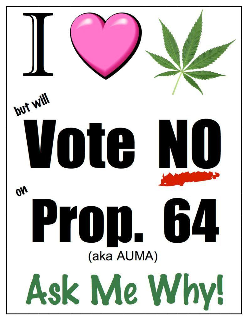 Some users were against Proposition 64
