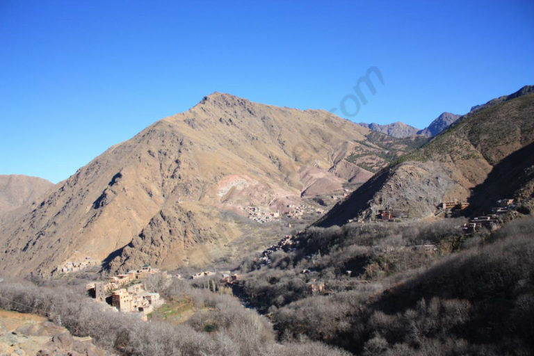 Mountainous areas in Morocco depend on melting of ice to irrigate their fields