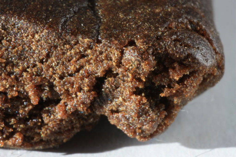 Quality hashish has few contaminants