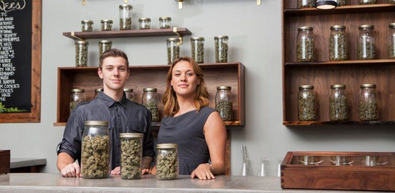 Cannabis dispensary in the USA