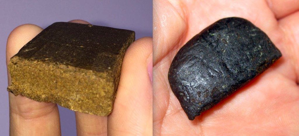 Imported hash tends to be dark in colour