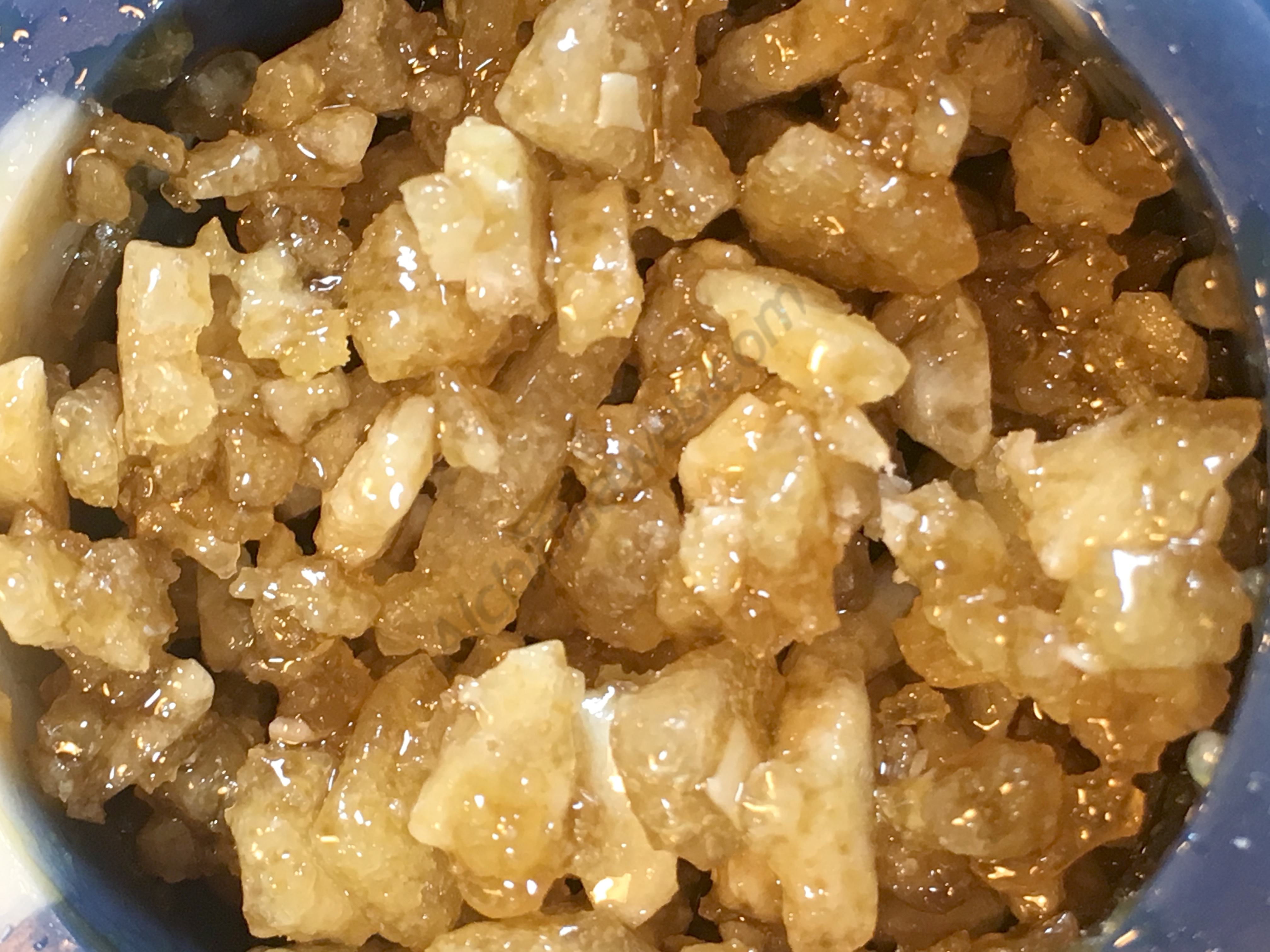 THCA Crystals added to the sauce