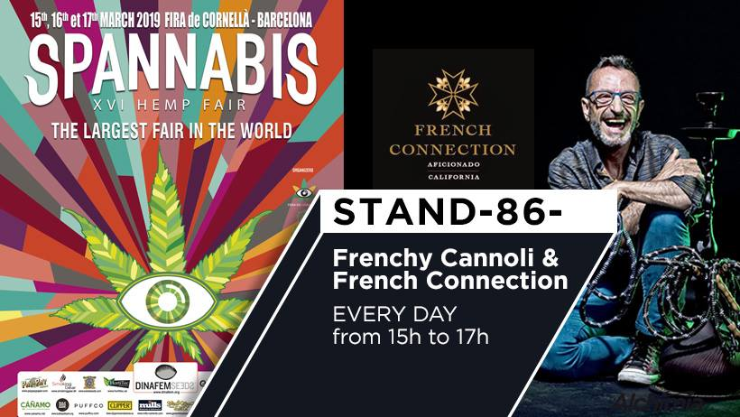 Frenchy Cannoli & Aficionado French Connection at the Alchimia stand in Spannabis