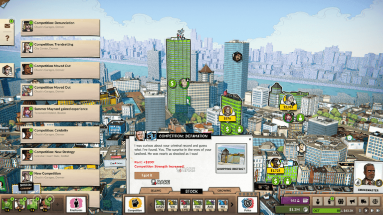 In Weedcraft Inc. you take control of each city ahead of your competition