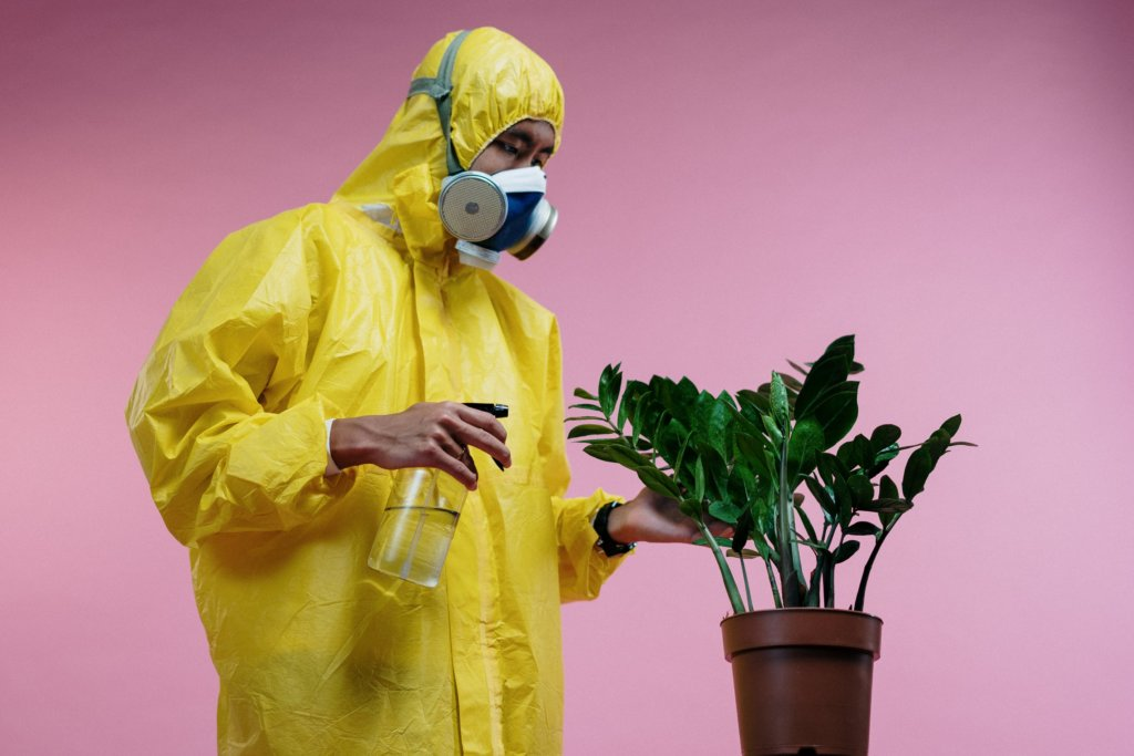 Suits like this might look extreme but they can halt the spread of pests and pathogens