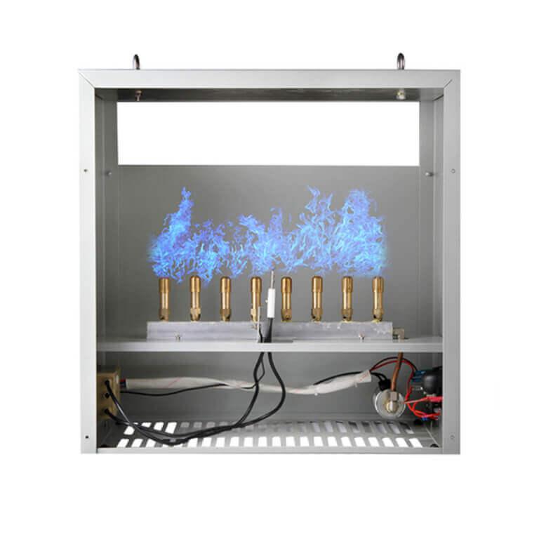 CO² generator with 8 propane gas burners