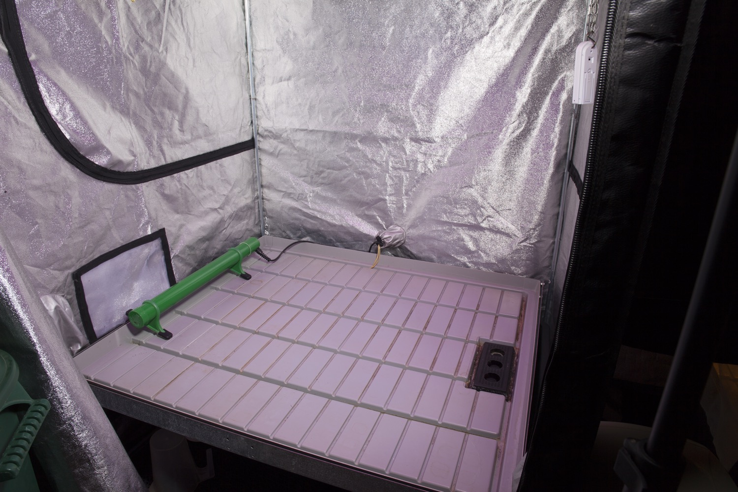 This grow tent is ready to be thoroughly cleaned