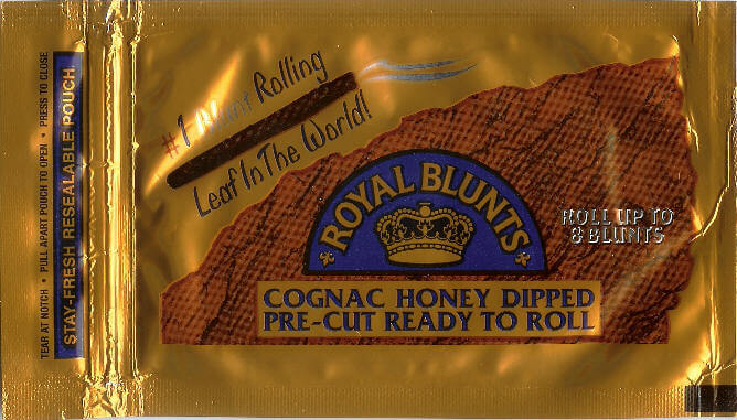 Cognac and honey Royal Blunts package