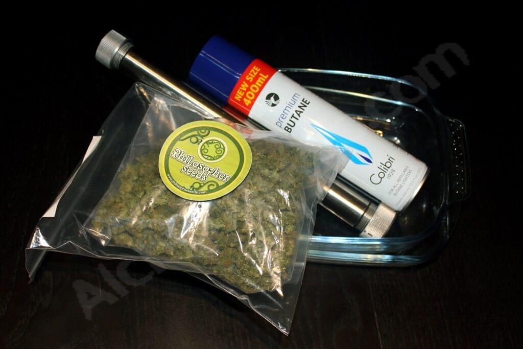 Matériel nécessaire pour l'extraction d'huile de cannabis BHO
