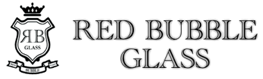 Red Bubble Glass