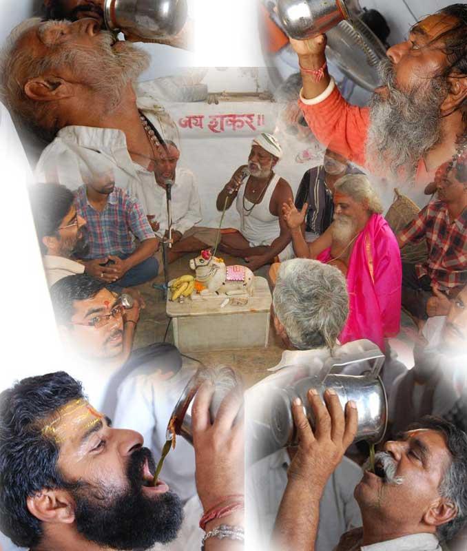 Consommation du Bhang en Inde