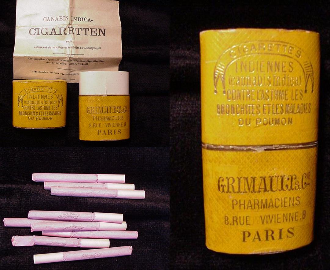 Cigarettes au cannabis, distribuées dans les pharmacies françaises il n'y a pas si longtemps...
