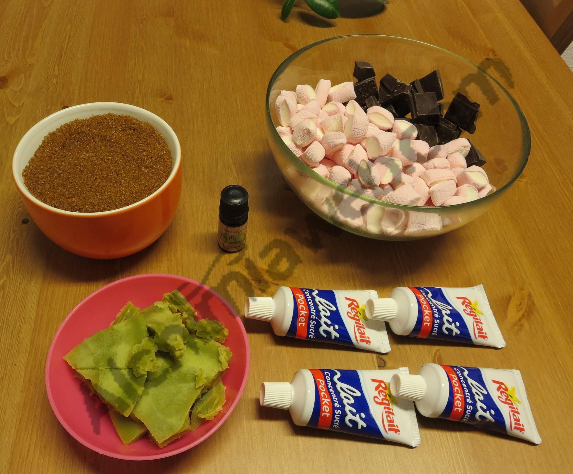 Ingrédients pour faire des caramels au cannabis
