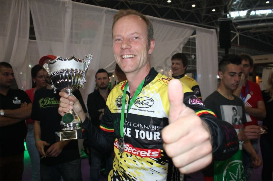 Luc de Paradise Seeds, organisateur du Medical Cannabis Bike Tour
