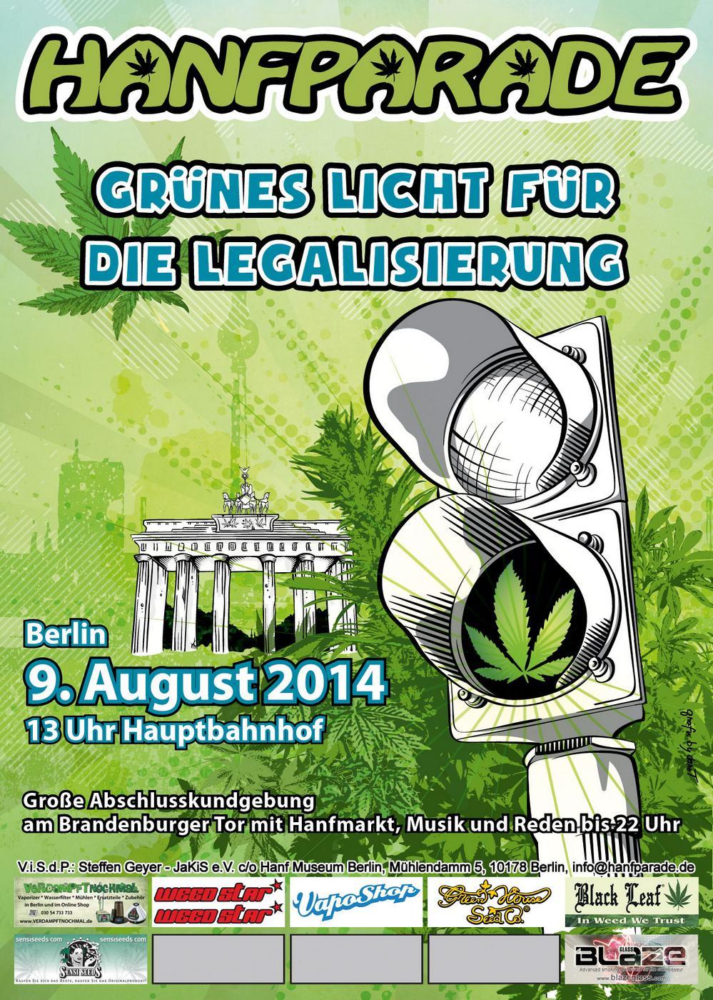Hanfparade Berlin 2014