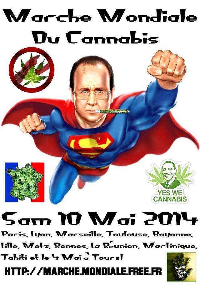 Marche Mondiale du Cannabis, le 10 mai 2014
