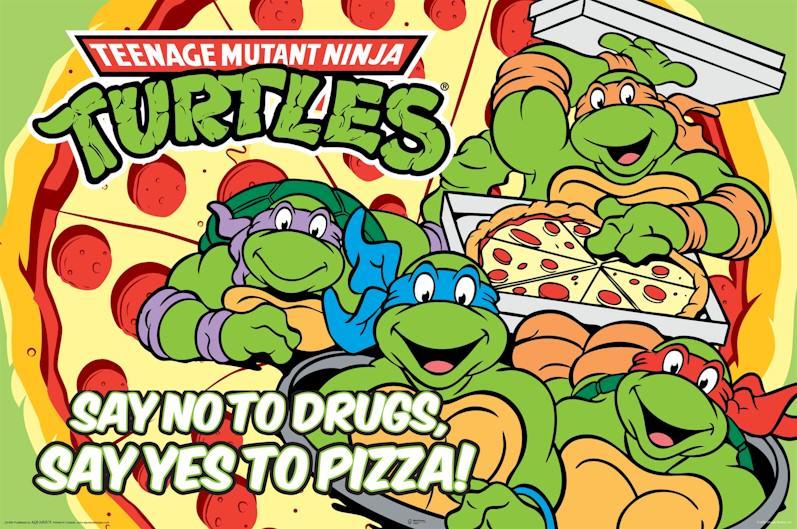 """""""Dites non à la drogue, mangez des pizzas!"""""""