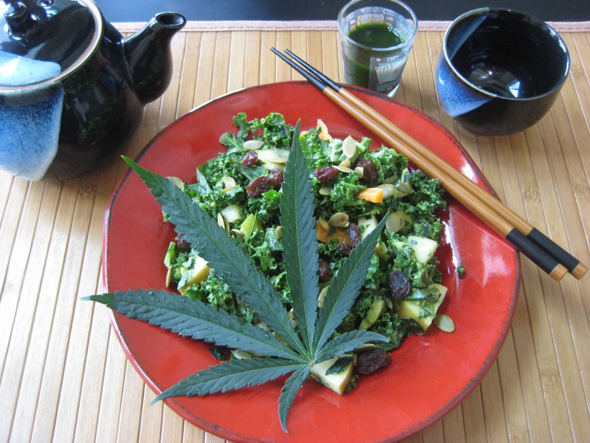 Un bon repas au cannabis
