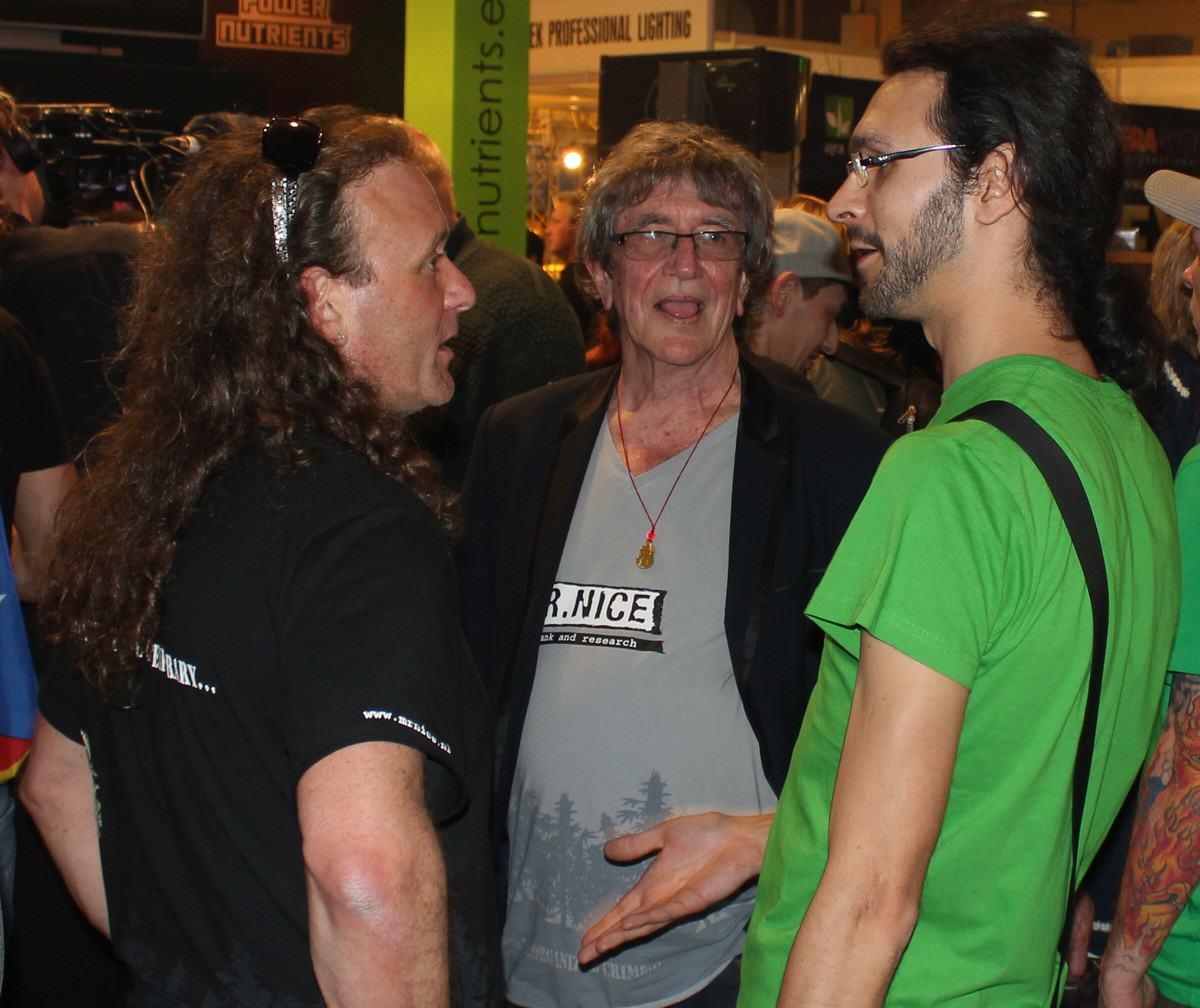 Shantibaba et Howard Marks de Mr Nice Seeds avec Marcel d'Alchimia