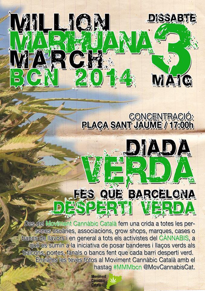 Marche mondiale du cannabis à Barcelone 2014