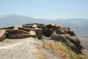 Forteresse des Haschischins de Alamut, en Iran