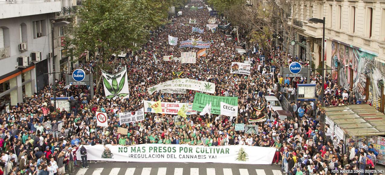 Marche mondiale du cannabis à Buenos Aires, le 3 Mai 2014
