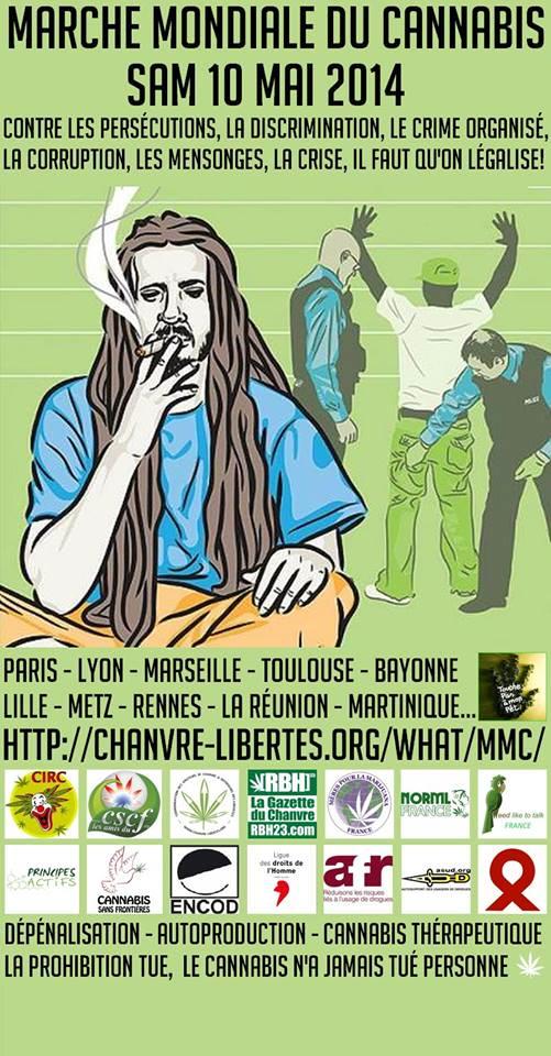Marche Mondiale du Cannabis en France, Mai 2014