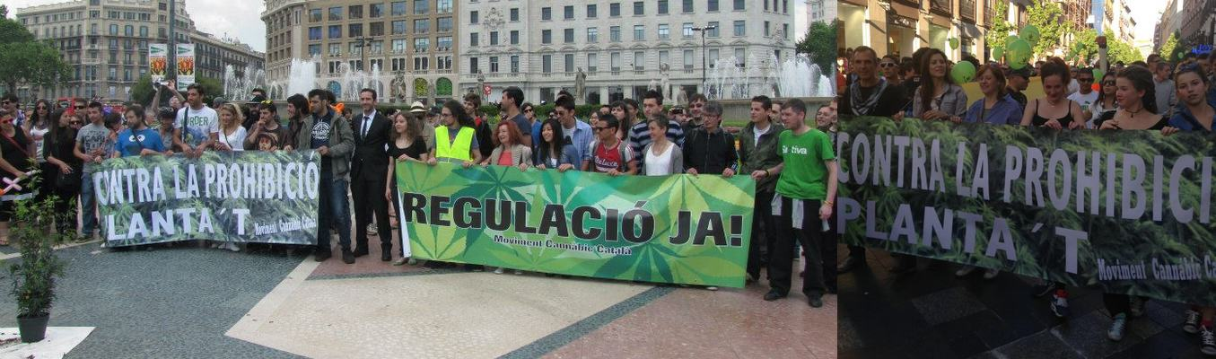 Marche Mondiale pour le Cannabis en Espagne (2013)