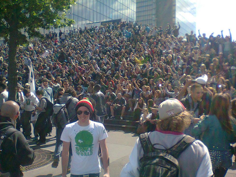 Marche Mondiale pour le Cannabis à Paris, en Mai 2013