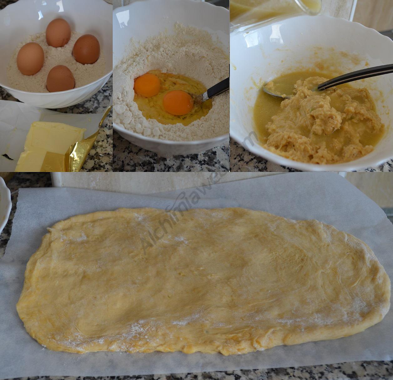 Préparation de la pâte à brioche