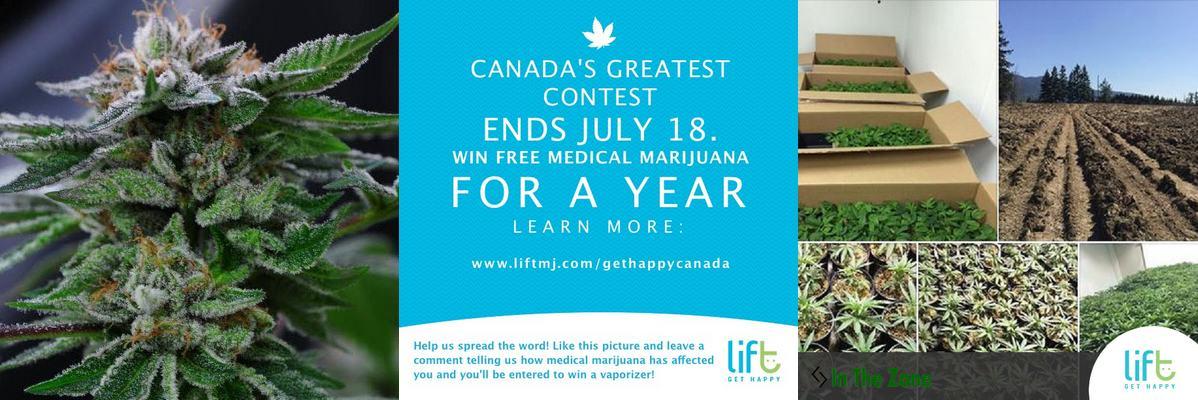Concours pour gagner 365 grammes de cannabis médical