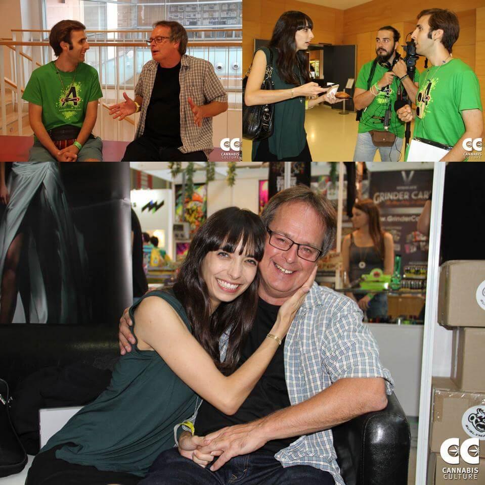 Marc et Jodie Emery à Irun pour la feria Expogrow 2014 (source: Cannabis Culture)