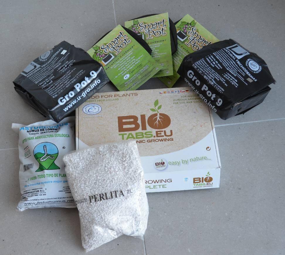 Tout le nécessaire pour une culture organique de cannabis en coco