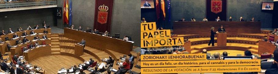 Vote historique sur la régulation du cannabis en Navarre