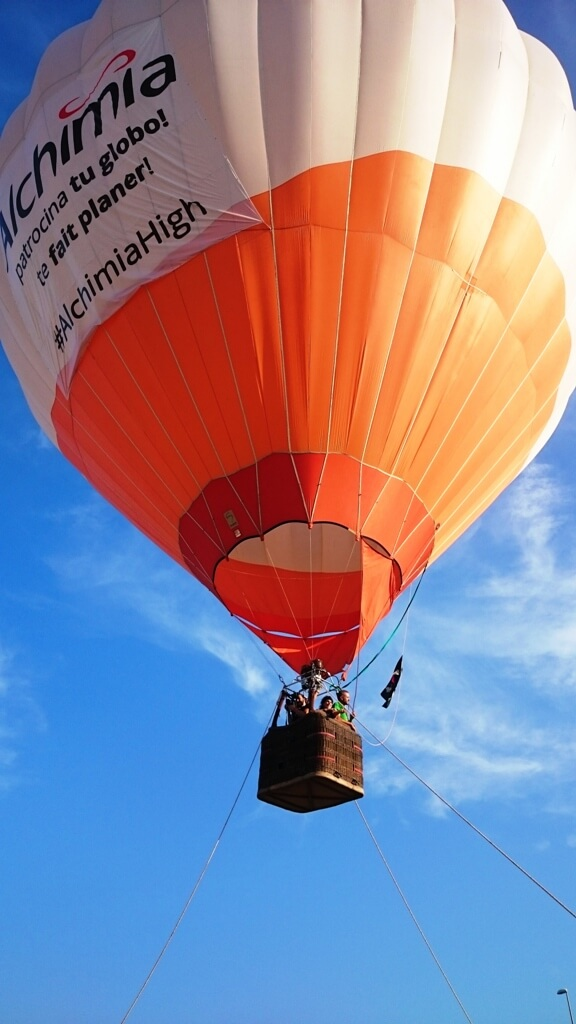 Image de la montgolfière qu'Alchimia a installé sur l'Expogrow 2015