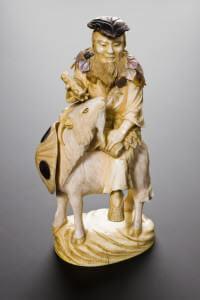 Statue d'ivoire représentant Shen Nong