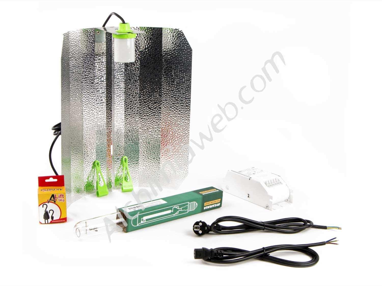 Kit d'éclairage, composé d'un ballast, d'une ampoule et d'un réflecteur.