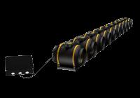 10 extracteurs Max-Fan Pro Series EC connectés à un contrôleur Can-Fan EC Controller.
