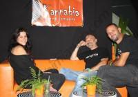 Zoe de Kannabia Seeds avec Ramon et David d'Alchimia