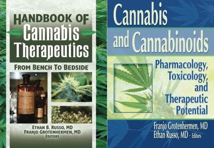 Livres sur le cannabis médical, écrits par les Dr Ethan Russo et Franjo Grotenhermen
