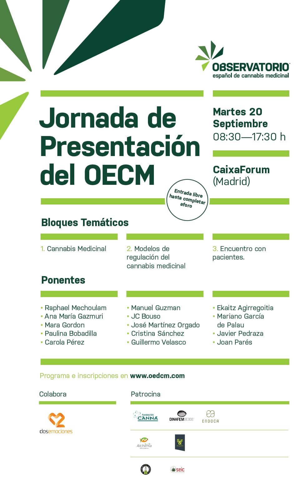 Journée de présentation de l'Observatoire Espagnol du Cannabis Médical