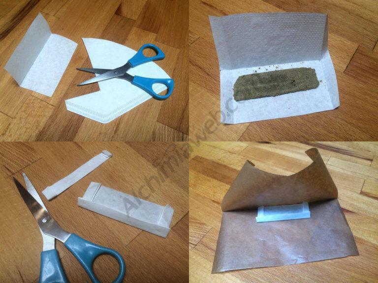 Préparation du Haschisch avant extraction