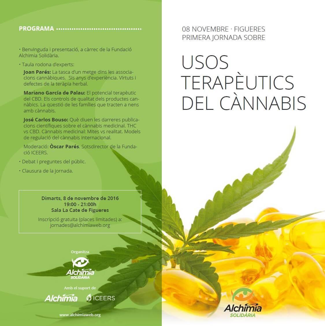 Conférence sur l'usage thérapeutique du cannabis à Figueres