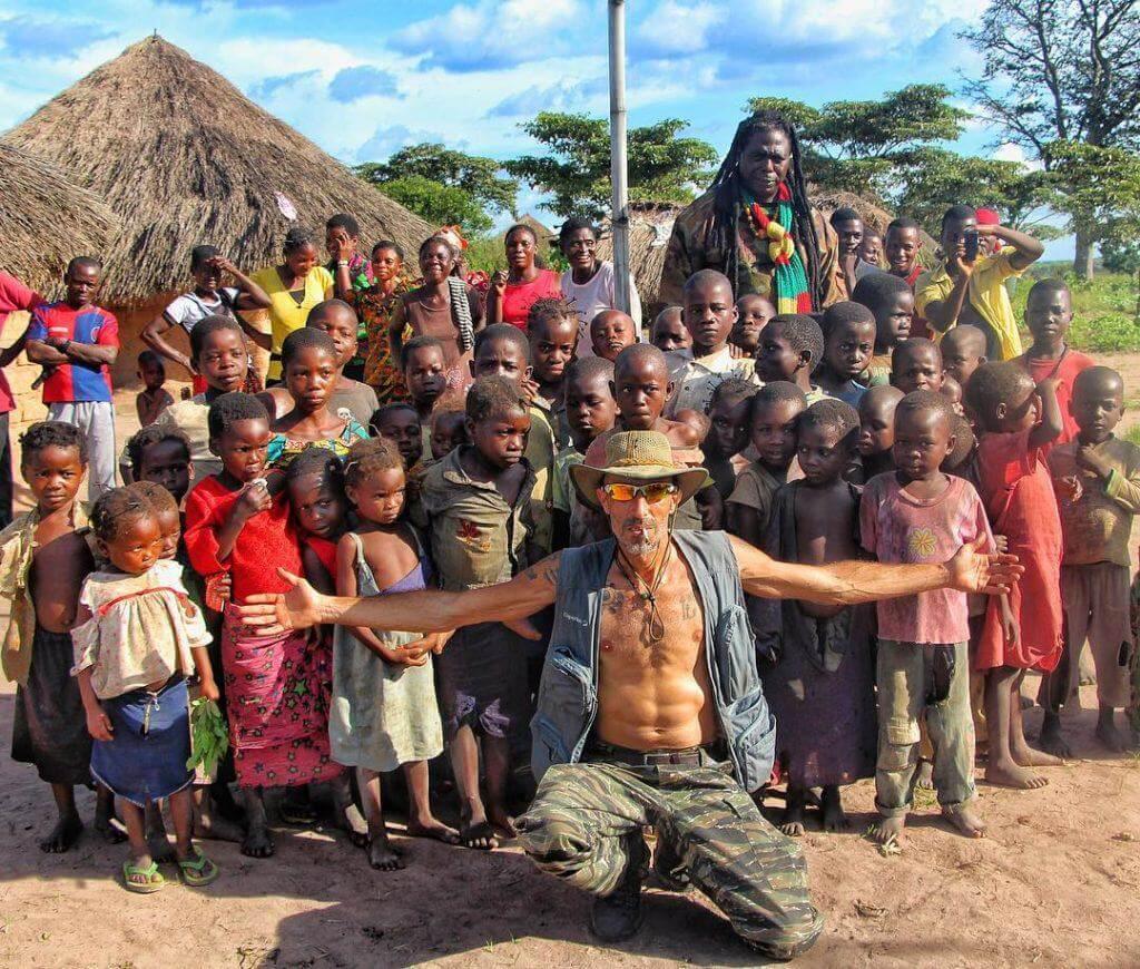 Franco lors d'un voyage en Afrique