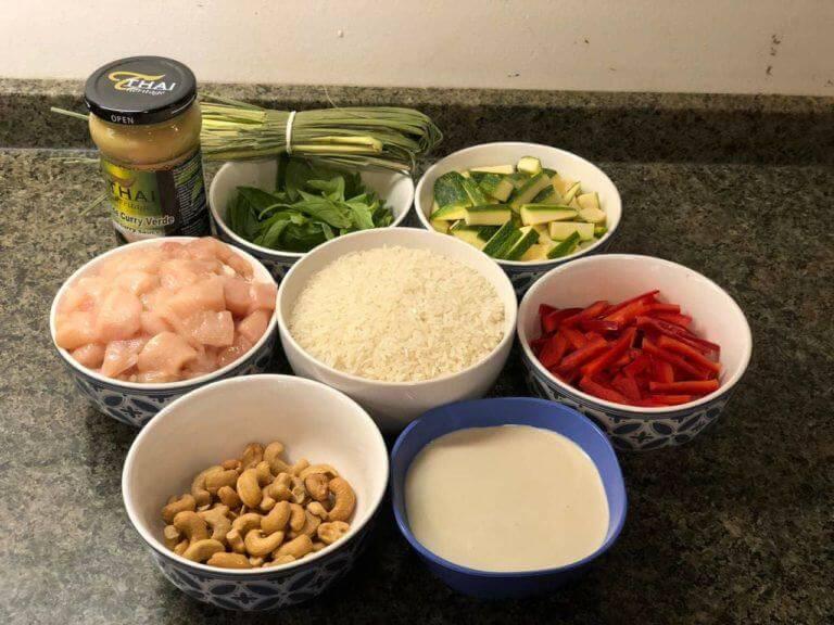 Ingrédients pour le curry