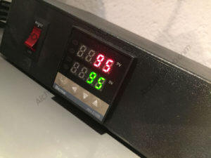 Écran de contrôle des températures